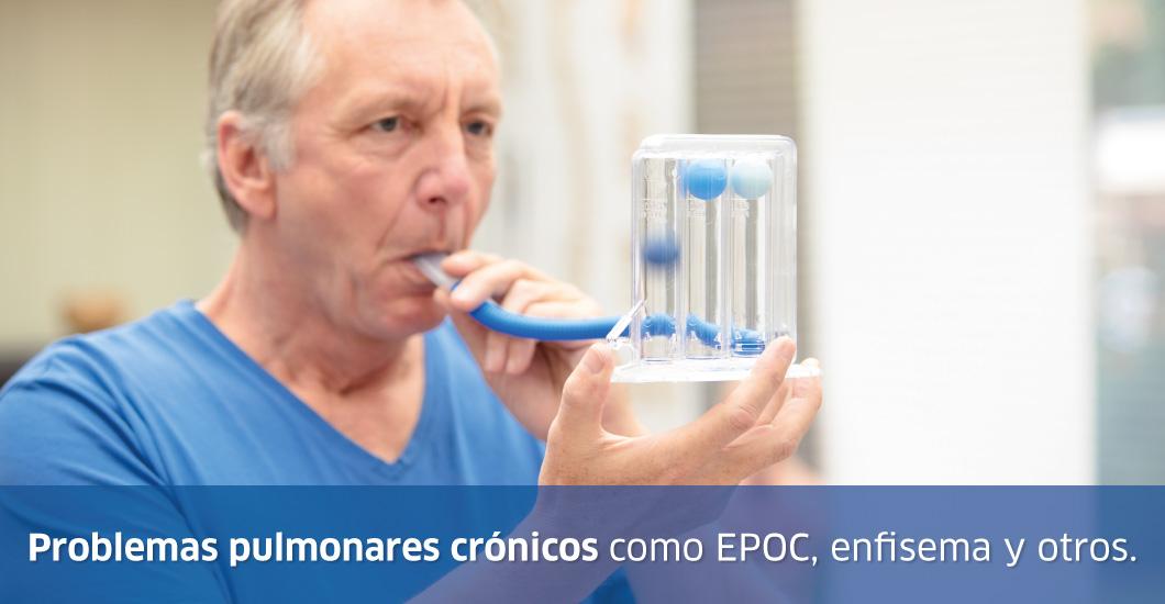 Personas con problemas pulmonares crónicos