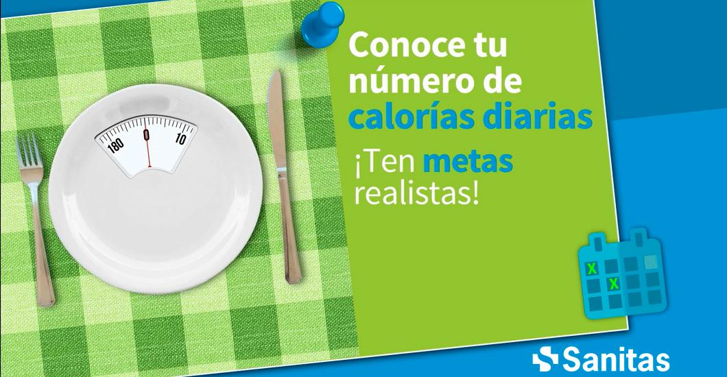 Conoce tu presupuesto de calorías
