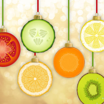 Christmas fruits